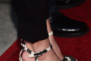 "Actress Eliza Dushku, shoe detail,  attends the Atomic Age Cinema Fest Premiere of ""The Man Who Saved The World"" at Raleigh Studios on April 27, 2016 in Los Angeles, California."