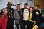 """Radio host Libbe HaLevy, actor Louis Gossette Jr., actor Esai Morales, anti-nuclear strategist Harvey Wasserman, actress Kat Kramer and actress Mimi Kennedy attend the Atomic Age Cinema Fest Premiere of """"The Man Who Saved The World"""" at Raleigh Studios on April 27, 2016 in Los Angeles, California."""