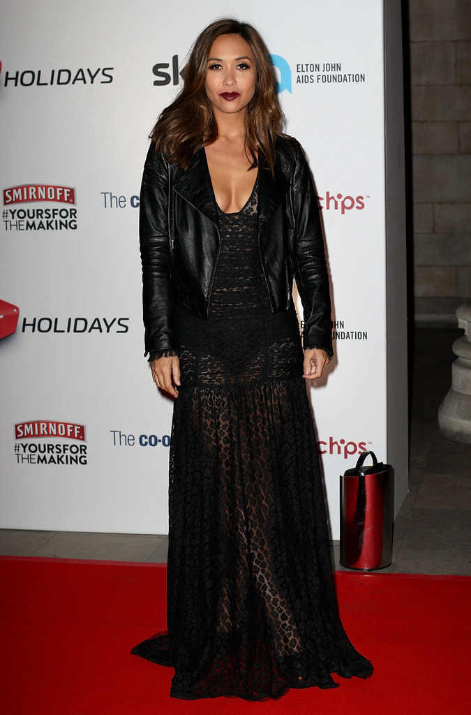 Myleene Klass attends the Attitude Magazine awards at Royal Courts of Justice on October 15, 2013 in London, England.
