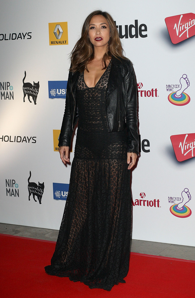 Myleene Klass attends the Attitude Magazine awards at Royal Courts of Justice, Strand on October 15, 2013 in London, England.