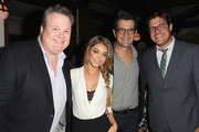 (L-R) Actors Eric Stonestreet, Sarah Hyland, Ty Burrell and Rich Sommer attend Audi's Celebration of Emmys Week 2014 at Cecconi's Restaurant on August 21, 2014 in Los Angeles, California.