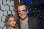 Actress Sarah Hyland and actor Ty Burrell attend Audi's Celebration of Emmys Week 2014 at Cecconi's Restaurant on August 21, 2014 in Los Angeles, California.