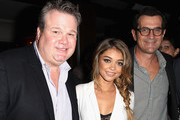 (L-R) Actors Eric Stonestreet, Sarah Hyland, and Ty Burrell attend Audi's Celebration of Emmys Week 2014 at Cecconi's Restaurant on August 21, 2014 in Los Angeles, California.