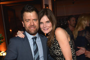 Actors Kevin Weisman (L) and Betsy Brandt attend the Audi Celebrates Emmys Week 2015 at Cecconi's Restaurant on September 17, 2015 in Los Angeles, California.