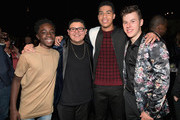(L-R) Caleb McLaughlin, Rico Rodriguez, Marcus Scribner, and Nolan Gould at Audi Celebrates the 69th Emmys at The Highlight Room at Dream Hollywood on September 14, 2016 in Hollywood, California.