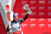 Tessa Worley of France wins the globe in the overall standings during the Audi FIS Alpine Ski World Cup Finals Women's Giant Slalom and Men's Slalom on March 19, 2017 in Aspen, Colorado