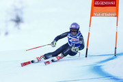 Tessa Worley of France in action during the Audi FIS Alpine Ski World Cup Women's Downhill Training on December 14, 2016 in Val-d'Isere, France