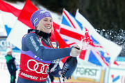 Tessa Worley of France takes 2nd place during the Audi FIS Alpine Ski World Cup Women's Giant Slalom on January 24, 2017 in Kronplatz, Italy