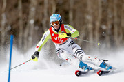 Susanne Riesch of Germany #7 competes in the first run of the Slalom during the Audi FIS World Cup Aspen Winternational on November 28, 2010 in Aspen, Colorado.