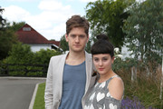 Kyle Soller and Phoebe Fox attend the Audi International Polo at Guards Polo Club on July 22, 2012 in Egham, England.