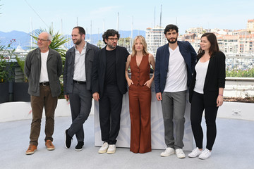 Audrey Abiven Romain Cogitore Camera D'Or Jury Photocall - The 74th Annual Cannes Film Festival