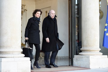 Audrey Azoulay French President Francois Hollande Organizes A meeting On Cold Hit In France At Elysee Palace In Paris