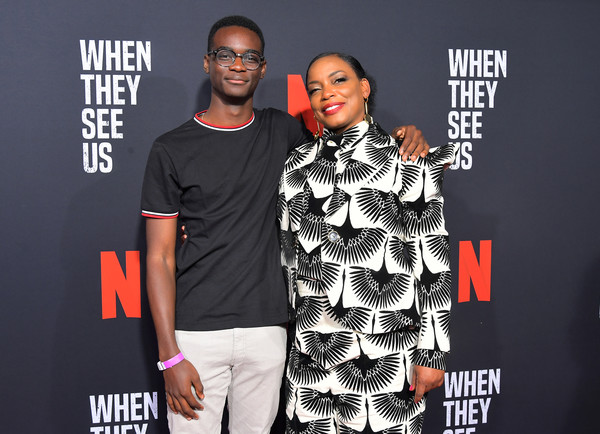 Netflix's 'When They See Us' Screening And Reception [when they see us screening reception,fashion,premiere,event,t-shirt,muscle,carpet,style,performance,brand,fashion design,ethan herisse,aunjanue ellis,lot,california,hollywood,paramount theater,netflix,paramount studios,when they see us screening reception]