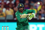 Shoaib Malik of Pakistan bats during game five of the One Day International series between Australia and Pakistan at Adelaide Oval on January 26, 2017 in Adelaide, Australia.