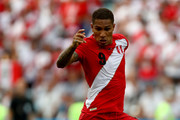 Paolo Guerrero of Peru in action during the 2018 FIFA World Cup Russia group C match between Australia and Peru at Fisht Stadium on June 26, 2018 in Sochi, Russia.