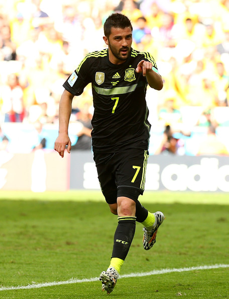 David Villa  Spain David Villa 2014 World Cup