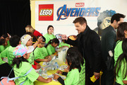 Jeremy Renner attends Avengers Universe Unites, a charity event to celebrate the donation of more than $5 million in cash and toys to nonprofits supporting children with critical illnesses, at Disney California Adventure Park on April 5, 2019 in Anaheim, California.