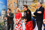(L-R) Paul Rudd, Scarlett Johansson, Robert Downey Jr. and The Walt Disney Company Chairman and CEO Bob Iger attend Avengers Universe Unites, a charity event to celebrate the donation of more than $5 million in cash and toys to nonprofits supporting children with critical illnesses, at Disney California Adventure Park on April 5, 2019 in Anaheim, California.