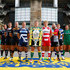 Dean Mumm Geoff Parling Photos - (L-R) Captain Alistair Hargreaves of Saracens, Captain Geoff Parling of Leicester Tigers, Captain Will Welch of Newcastle Falcons, Captain Dean Mumm of Exeter Chiefs, Captain James Haskell of Wasps, Captain Daniel Braid of Sale Sharks, Captain Dylan Hartley of Northampton Saints, Captain Billy Twelvetrees of Gloucester Rugby, Captain Joe Marler of Harlequins, Captain Stuart Hooper of Bath Rugby, Captain Tom May of London Welsh pose during the Aviva Premiership Rugby 2014-2015 Season Launch at Twickenham Stadium on August 27, 2014 in London, England. - Aviva Premiership Season Launch