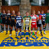 Tom May Dean Mumm Photos - (L-R) Captain Alistair Hargreaves of Saracens, Captain Geoff Parling of Leicester Tigers, Captain Will Welch of Newcastle Falcons, Captain Dean Mumm of Exeter Chiefs, Captain James Haskell of Wasps, Captain Daniel Braid of Sale Sharks, Captain Dylan Hartley of Northampton Saints, Captain Billy Twelvetrees of Gloucester Rugby, Captain Joe Marler of Harlequins, Captain Stuart Hooper of Bath Rugby, Captain Tom May of London Welsh pose during the Aviva Premiership Rugby 2014-2015 Season Launch at Twickenham Stadium on August 27, 2014 in London, England. - Aviva Premiership Season Launch