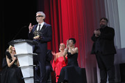 Alfonso Cuaron receives the Golden Lion for Best Film Award for 'Roma' at the Award Ceremony during the 75th Venice Film Festival at Sala Grande on September 8, 2018 in Venice, Italy.