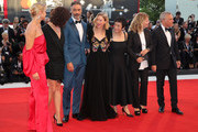Official Competition jury members Trine Dyrholm, Malgorzata Szumowska, Taika Waititi, Naomi Watts, Sylvia Chang, Nicole Garcia and Christoph Waltz walk the red carpet ahead of the Award Ceremony during the 75th Venice Film Festival at Sala Grande on September 8, 2018 in Venice, Italy.