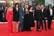 Official Competition jury members Taika Waititi, Trine Dyrholm, Malgorzata Szumowska, Naomi Watts, president of the jury Guillermo Del Toro, jury members Sylvia Chang, Nicole Garcia, Christoph Waltz and Paolo Genovese walk the red carpet ahead of the Award Ceremony during the 75th Venice Film Festival at Sala Grande on September 8, 2018 in Venice, Italy.