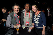(L-R) Gordon Quinn, Roger Ross Williams, and Ingrid Kopp attend the Awards Night Party during the 2015 Sundance Film Festival at the Basin Recreation Field House on January 31, 2015 in Park City, Utah.