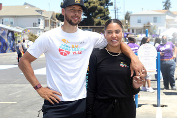 Ayesha Curry Stephen And Ayesha Curry's Eat. Learn. Play., Along With Partners KABOOM!, The CarMax Foundation, And Oakland Unified School District, Unveiled An Amazing New Playground, Multi-Sport Court, And Garden At Franklin Elementary School On Saturday, June 12