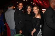 (L-R) Television personality Nicole Murphy, Bernadette Leonard and Jessica Canseco attend the B. Riley & Co. and Sugar Ray Leonard Foundation's 5th Annual 'Big Fighters, Big Cause' Charity Boxing Night at the Santa Monica Pier on May 20, 2014 in Santa Monica, California.