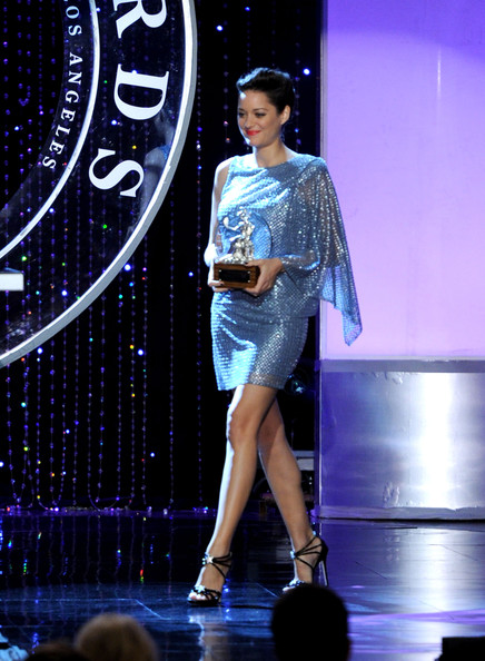 (EXCLUSIVE COVERAGE)  Actress Marion Cotillard speaks onstage during the BAFTA Los Angeles 2010 Britannia Awards held at the Hyatt Regency Century Plaza on November 4, 2010 in Century City, California. The BAFTA Los Angeles 2010 Brittania Awards will be aired on the TV Guide Channel on November 7th, 2010.