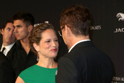 Honoree Robert Downey Jr. (R) and producer Susan Downey attend the BAFTA Los Angeles Jaguar Britannia Awards presented by BBC America and United Airlines at The Beverly Hilton Hotel on October 30, 2014 in Beverly Hills, California.