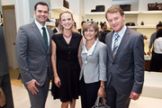 (L to R)  Adam McCollum, Andrea Powell, Christine Sager and Swiss Ambassador Manuel Sager attends the BALLY Grand Opening At Tysons Galleria on September 29, 2011 in McLean, United States.