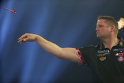 Scott Mitchell of England in action during Day Four of the BDO World Darts Championship at Lakeside Shopping Centre on January 10, 2018 in Thurrock, England.