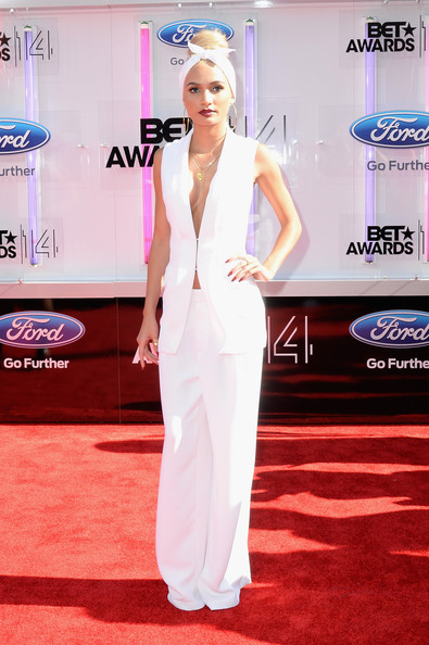 Singer Pia Mia Perez attends the BET AWARDS '14 at Nokia Theatre L.A. LIVE on June 29, 2014 in Los Angeles, California.