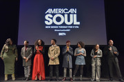TonyKelly Price, Jason Dirden, Iantha Richardson, Christopher Jefferson, Jelani Winston, Katlyn Nichol, Perri Camper and Emil Wilbekin attend the BET American Soul NYC Screening Event on January 28, 2019 in New York City.