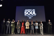 Tony Cornelius, Kelly Price, Jason Dirden, Iantha Richardson, Christopher Jefferson, Jelani Winston, Katlyn Nichol, Perri Camper and Emil Wilbekin attend the BET American Soul NYC Screening Event on January 28, 2019 in New York City.