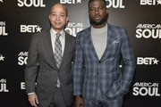 Scott Mills and Sinqua Walls attends the BET American Soul NYC Screening Event on January 28, 2019 in New York City.
