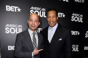 "Scott Mills,President of BET Networks and executive producer Tony Cornelius attends BET's ""American Soul"" New York Premiere at New World Stages on January 29, 2019 in New York City."