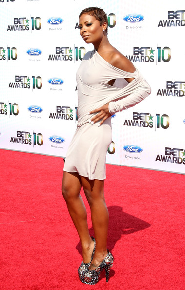 Model/actress Eva Pigford arrives at the 2010 BET Awards held at the Shrine Auditorium on June 27, 2010 in Los Angeles, California.