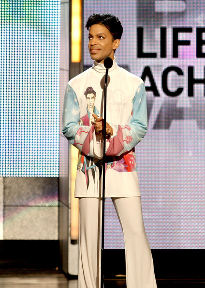 Prince Prince accepts the Lifetime Acheivment Award onstage during the 2010 BET Awards held at the Shrine Auditorium on June 27, 2010 in Los Angeles, California.