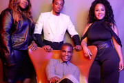 (L-R) Kelly Price, Jonathan McReynolds, Kirk Franklin, and Erica Campbell pose for a portrait during the BET Awards 2019 at Microsoft Theater on June 23, 2019 in Los Angeles, California.