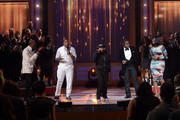 (L-R) Singers Isaac Carree, Canton Jones, Da' T.R.U.T.H., Charles Jenkins and Jessica Reedy perform onstage during the BET Celebration of Gospel 2013 at Orpheum Theatre on March 16, 2013 in Los Angeles, California.