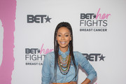 Singer Keri Hilson attends the 'BET Her Fights Breast Cancer' special event at Riverside Epicenter on September 20, 2018 in Atlanta, Georgia.