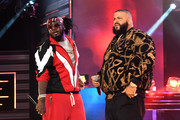 T-Pain and DJ Khaled perform onstage during the BET Hip Hop Awards 2017 at The Fillmore Miami Beach at the Jackie Gleason Theater on October 6, 2017 in Miami Beach, Florida.