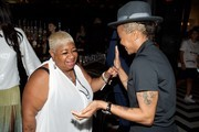"""(L-R) Comedian/Actress Luenell and Choreographer Laurieann Gibson attend BET """"Music Moguls"""" Premiere Event at 1OAK on June 27, 2016 in West Hollywood, California."""