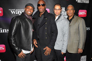 """Chris Spencer, JB Smoove, Jesse Collins and Stan Lathan attend BET Networks New York Premiere Of """"Real Husbands of Hollywood"""" And """"Second Generation Wayans"""" at SVA Theater on January 14, 2013 in New York City."""