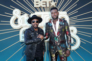 (L-R) Anthony Hamilton and Sinqua Walls attend the 2019 Soul Train Awards presented by BET at the Orleans Arena on November 17, 2019 in Las Vegas, Nevada.