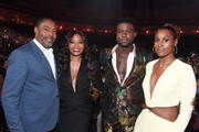 (2nd L-R) Connie Orlando, Sinqua Walls and Issa Rae attend the 2019 Soul Train Awards presented by BET at the Orleans Arena on November 17, 2019 in Las Vegas, Nevada.