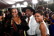 (L-R) Jill Scott, MAJOR., and guest attend the 51st NAACP Image Awards, Presented by BET, at Pasadena Civic Auditorium on February 22, 2020 in Pasadena, California.